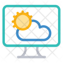 Weather Sun Lcd Icon