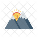 Weather Mountains Hills Icon