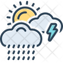 Weather Storm Thunder Icon
