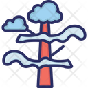 Weather Clouds Tree Icon