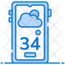 Weather App Weather Accumulation Smartphone Application Icon