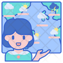 Weather Forecaster Meteorologist Geaographer Icon