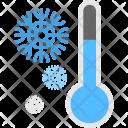 Thermometer Snowflake Frozen Icon