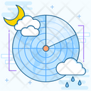 Climate Radiolocation Cosmic Radar Direction Finding Icon