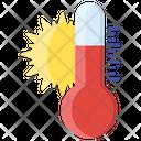 Hot Weather Summer Season Weather Temperature Icon