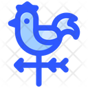 Weathercock Wind Weather Icon