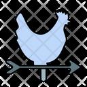 Weathercock Wind Vane Icon