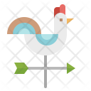 Weathercock Wind Rooster Icon