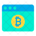 Bitcoin Webpage Online Money Online Currency Icon