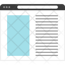 Web Wireframe Design Icon