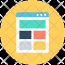 Web Structure Design Icon