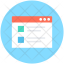 Web Page Template Icon