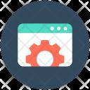 Web Settings Cogs Icon