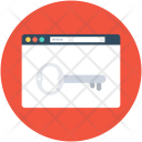 Web Security Key Icon