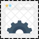 Web Settings Cogwheel Icon