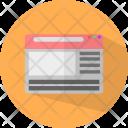 Web Hosting Click Icon