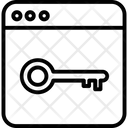 Web Access Web Key Web Lock Icon