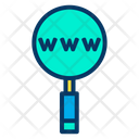 World Wide Web Search Web Address Searching Web Address Icon