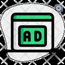 Web Ads Web Marketing Web Advertisement Icon