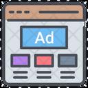 Web Advertisement Web Promotion Web Marketing Icon