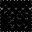 Web Algorithm Web Wireframe Web Process Icon