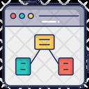 Web Algorithm Online Digram Flowchart Icon