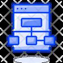 Web Algorithm Web Hierarchy Web Architecture Icon