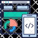 Web Analysis Statistics Visual Analytics Icon
