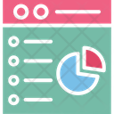 Business Evaluation Graphical Analysis Online Analytics Icon