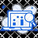 Web Analysis Online Data Infographic Icon