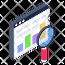 Web Analysis Data Analysis Web Exploration Icon
