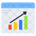 Web Graph Web Chart Web Analytic Icon