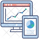 Web Analytics Data Infographic Web Development Icon