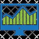 Web Analytics Online Graph Data Visualization Icon