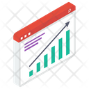 Web Analytics Graphical Representation Financial Chart Icon