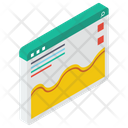 Web Analytics Business Website Data Analytics Icon