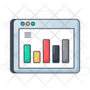 Web Analytics Online Graph Data Analytics Icon