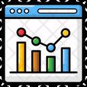 Web Analytics Infographic Chart Sales Report Icon