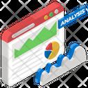 Web Analytics Growth Analysis Market Research Icon