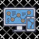 Web Analytics Monitor Smartphone Icon