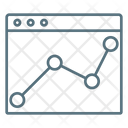 Web Analytics Online Analytics Graph Icon