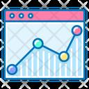 Web Analytics Graph Website Icon