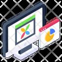 Data Analysis Web Statistics Web Analytics Icon