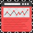 Online Data Analytics Web Infographic Web Statistics Icon