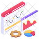 Web Analytics Web Infographic Web Statistics Icon