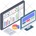 Online Business Analytics Web Analytics Business Analytics Icon