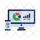 Web analytics responsive device Icon