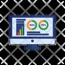 Web analytics tools chart Icon