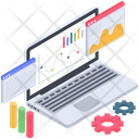 Online Business Analysis Web Analytics Business Analytics Icon