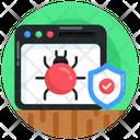 Web Bug Bug Protection Web Antivirus Icon